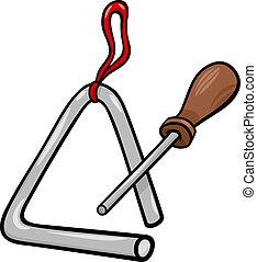 triangle percussion clip art cartoon illustration - Cartoon...