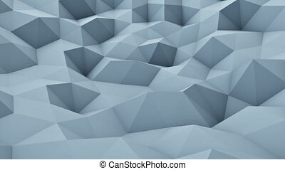 Triangle polygons vibrating chaotic loopable animation 3D...