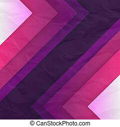 triangle, pourpre, résumé, formes, vecteur, fond