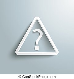 Triangle Question Mark - White triangle with question mark...