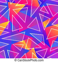 triangle, résumé, seamless, pattern.