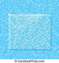triangle, résumé, verre, vecteur, fond, bannière