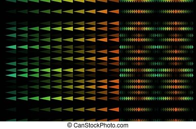 triangle rainbow pattern theme tiny slow faded all in the ...