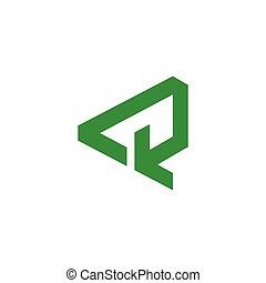 triangle recycle green arrow symbol logo vector