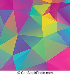 triangle, retro, fond