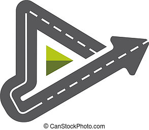 Triangle road symbol