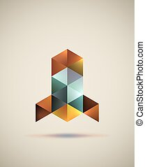 Triangle rocket logo