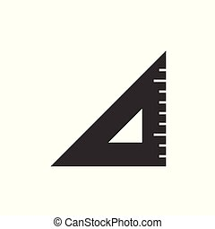 Triangle ruler black icon