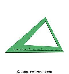 Triangle ruler cartoon icon