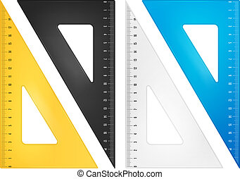 Triangle ruler set