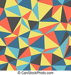 Triangle seamless pattern colorful