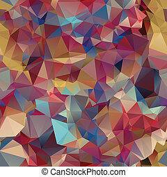 Triangle seamless pattern of geometric shapes