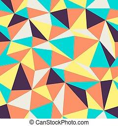 Triangle Seamless Pattern. Retro colors.