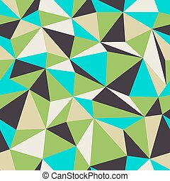 Triangle Seamless Pattern. Retro colors.