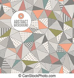 Triangle seamless pattern. Vector illustration. - Frame for...
