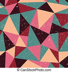 Triangle seamless pattern with grunge effect