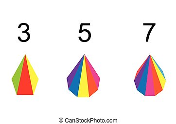 Triangle Set of Chart, Vector Illustration, Creative Concept