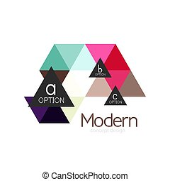 Triangle shape design abstract business logo icon design....