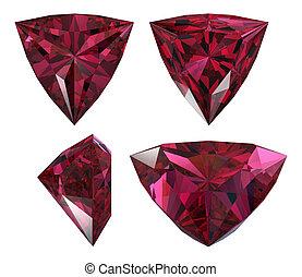 triangle shape diamond isolated