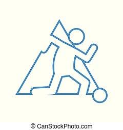 Triangle Shape Football Soccer Sport Figure Symbol Vector Illustration