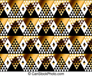 triangle shape geometric African tribal seamless pattern in luxury style. fashionable repeatable motif for wrapping paper, fabric, background
