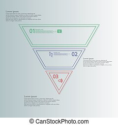 Triangle shape infographic template