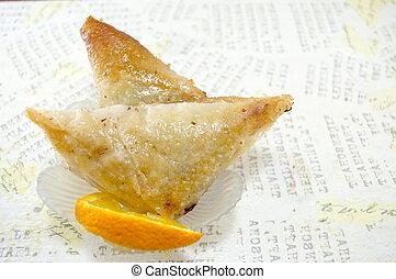Triangle shaped Turkish Baklava