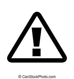 triangle sign alert icon
