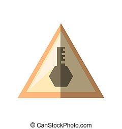 triangle, signe, accès, clã©, sécurité, ombre