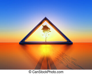 triangle, solaire