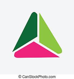 Triangle symbol icon vector