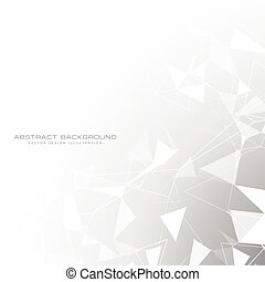 triangle, szary, abstrakcyjny, białe tło