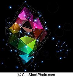 triangle, technologies, conception, résumé, espace