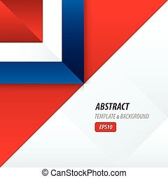 triangle template vector Red and Blue Color