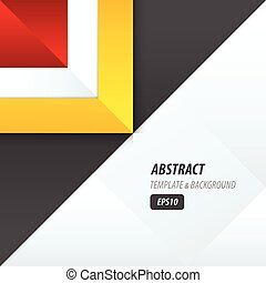 triangle template vector yellow, black, red