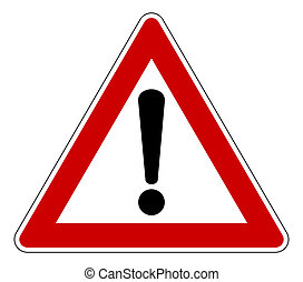 Triangle warning sign - Red traffic triangle warning sign, ...