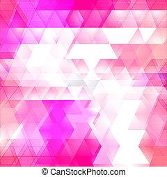 triangle, wektor, mozaika, tło