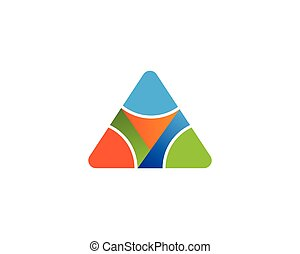 Triangle with y letter logo design illustration