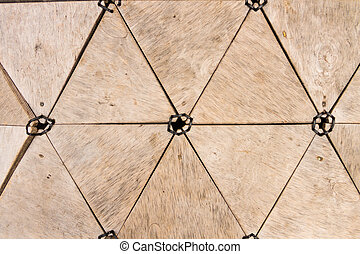 Triangle wooden shapes