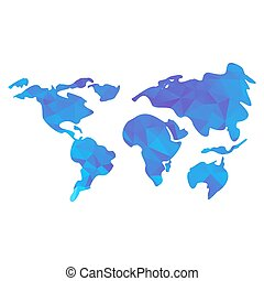 Colored world map triangle design triangle world map gumiabroncs Image collections