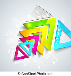 triangles., 抽象的, ベクトル, 幾何学的, イラスト