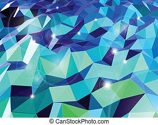 triangles., 抽象的, ベクトル, 背景