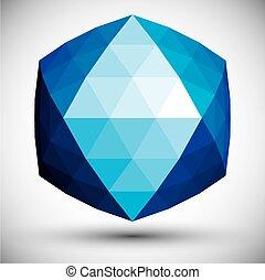 triangles., 抽象的, 作られた, 形, 3d
