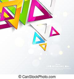 triangles., 抽象的, 幾何学的