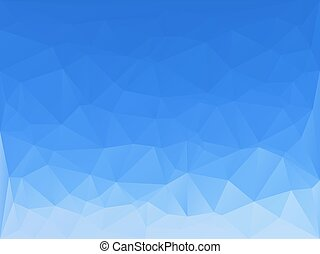 triangles abstract background - clear blue sky - vector