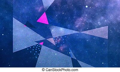 Abstraction background. Colorful triangles. 3D rendering