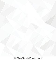 triangles., abstrakcyjny, białe tło, vector.