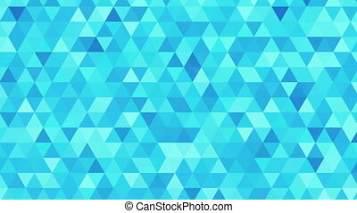 """""""blue shimmering and flashing triangles, pattern of geometric shapes. Colorful-mosaic background/ live /abstract background"""""""