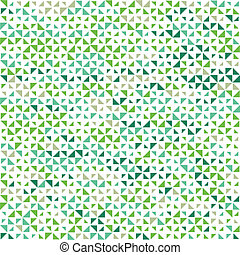 Triangles background in green colorway