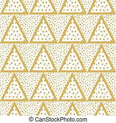 Triangles background with gold Dots seamless